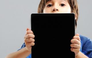 Cute kid with Tablet Apple Ipad